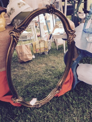 Vintage mirror I purchased and sprayed blue $20